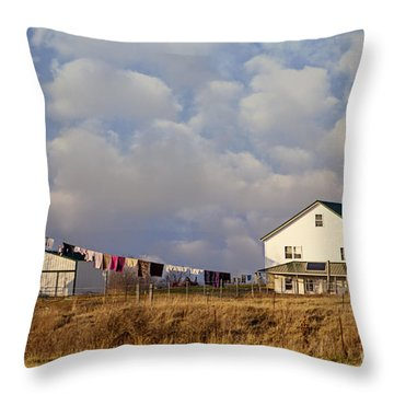 Really Long Clothesline Throw Pillow