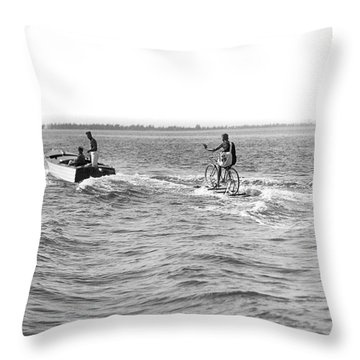 Really Riding The Waves Throw Pillow