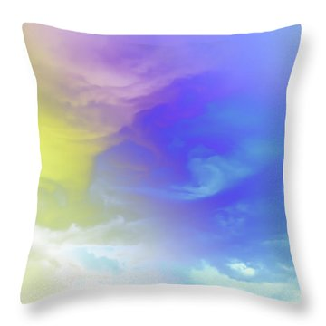 Realm Of Angels Throw Pillow