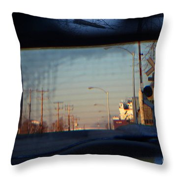Throw Pillow featuring the digital art Rear View 2 - The Places I Have Been by David Blank