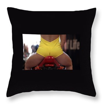 Rear View Throw Pillow by Lawrence Christopher