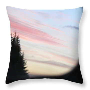 Rear View Sunset Sky Throw Pillow by Pamela Patch
