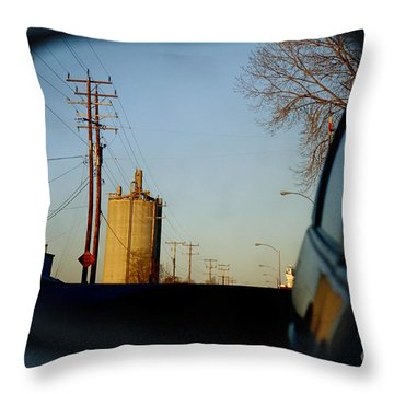 Throw Pillow featuring the digital art Rear View - The Places I Have Been by David Blank