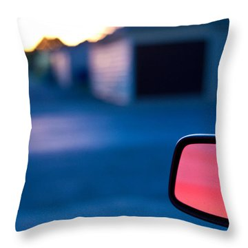 Rearview Mirror Throw Pillow