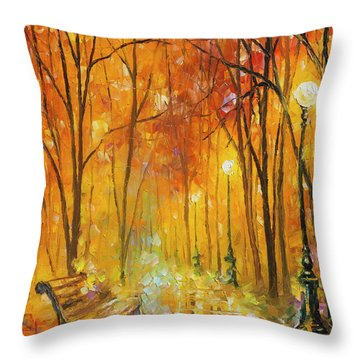 Reasons Of Autumn  Throw Pillow by Leonid Afremov