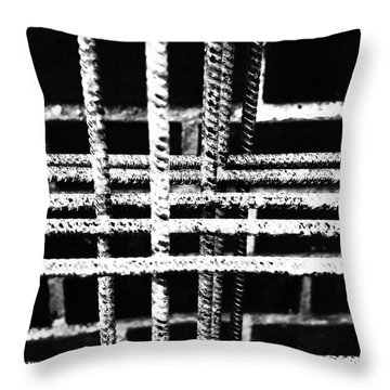 Rebar And Brick - Industrial Abstract Throw Pillow