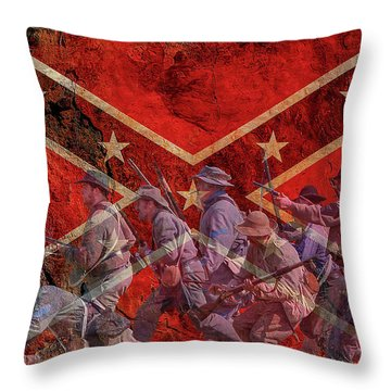 Rebel Yell Throw Pillow