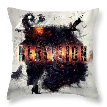 Rebellion Throw Pillow by Mo T