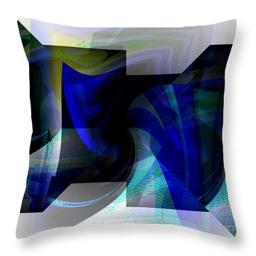 Transparency 2 Throw Pillow by Thibault Toussaint