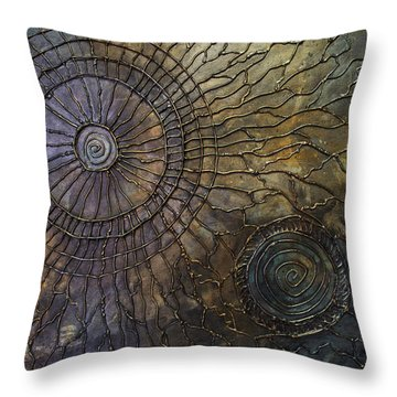 Throw Pillow featuring the painting Rebirth by Patricia Lintner