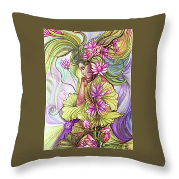 Rebirth With The Sacred Lotus Throw Pillow