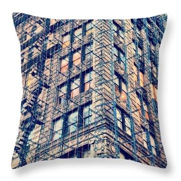 #rebuild #urban #nyc #citylife Throw Pillow
