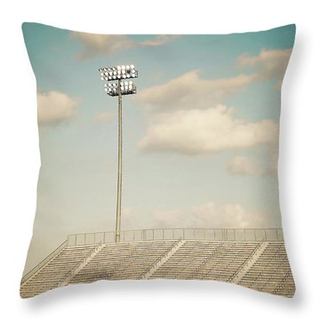 Throw Pillow featuring the photograph Recalling High School Memories by Trish Mistric