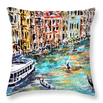 Recalling Venice 01 Throw Pillow