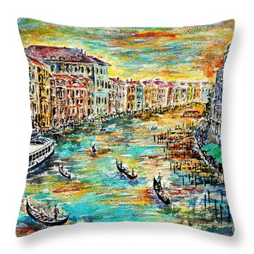 Recalling Venice Throw Pillow