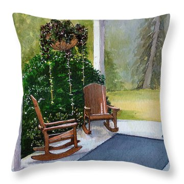 Throw Pillow featuring the painting Recap by Lynn Babineau