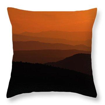 Receding Ridges Throw Pillow