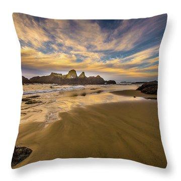 Receding Tide Throw Pillow