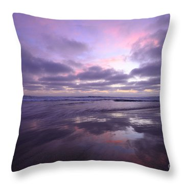 Throw Pillow featuring the photograph Cardiff By The Sea Reflections by John F Tsumas
