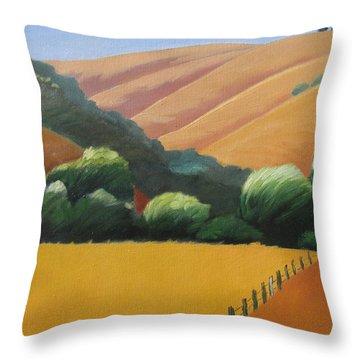 Receeding Hills Throw Pillow by Gary Coleman