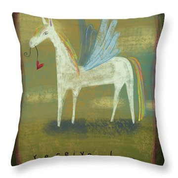 Throw Pillow featuring the painting Receive Love by Marti McGinnis