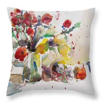 Reception Throw Pillow by Becky Kim