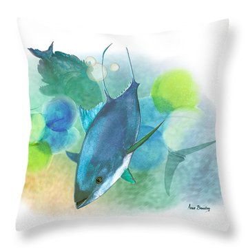 Throw Pillow featuring the painting Recess by Anne Beverley-Stamps