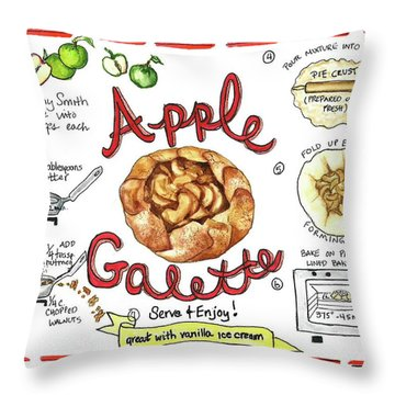 Recipe- Apple Galette Throw Pillow