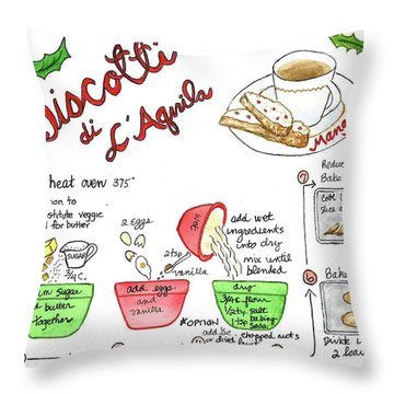 Recipe Biscotti Throw Pillow