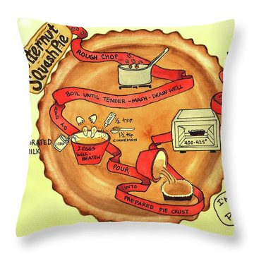 Recipe-butternut Squash Pie Throw Pillow