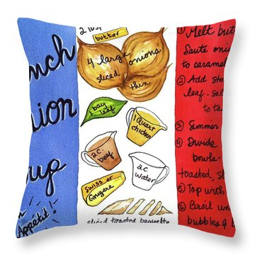 Recipe French Onion Soup Throw Pillow