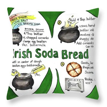 Recipe - Irish Soda Bread Throw Pillow