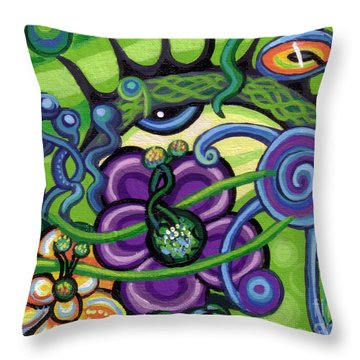 Reciprocal Liason Of The Sea II Throw Pillow by Genevieve Esson