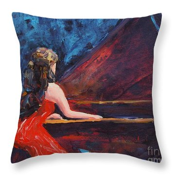 Recital In Red Throw Pillow