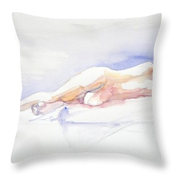 Reclining Figure  Throw Pillow