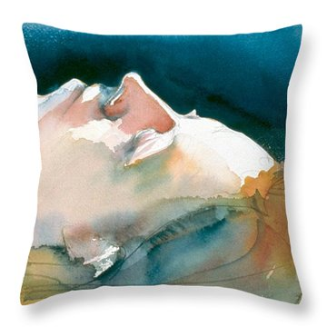 Reclining Head Study Throw Pillow