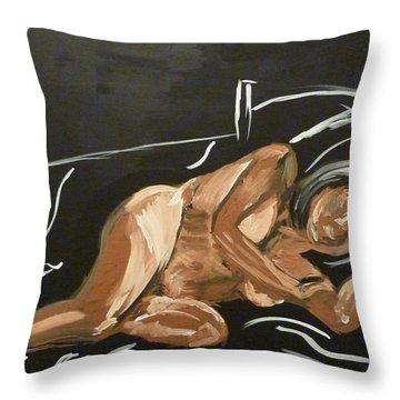 Reclining Nude Throw Pillow by Joshua Redman