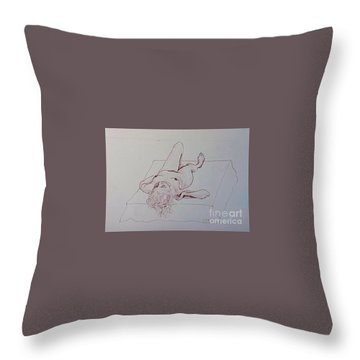 Reclining Nude Lady Throw Pillow