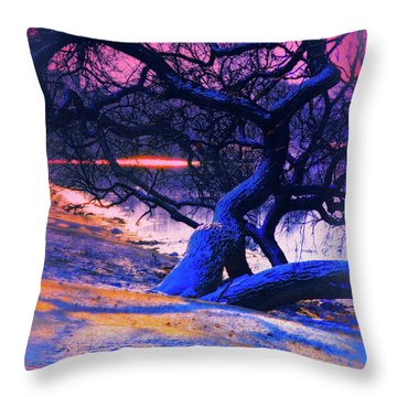 Reclining On The Banks Throw Pillow by Kat Besthorn
