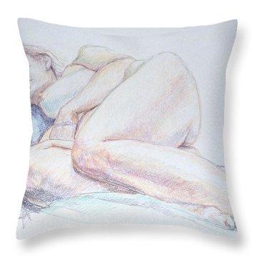 Reclining Study 2 Throw Pillow