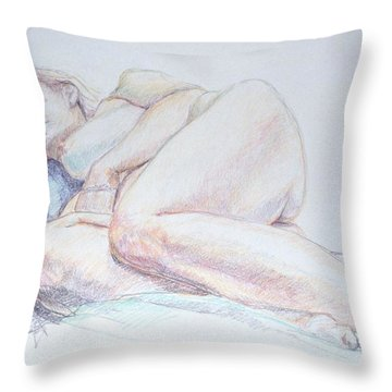 Reclining Study 2 Throw Pillow