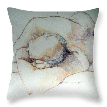 Reclining Study 3 Throw Pillow