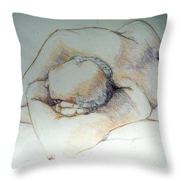 Reclining Study 3 Throw Pillow