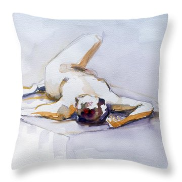 Reclining Study 6 Throw Pillow