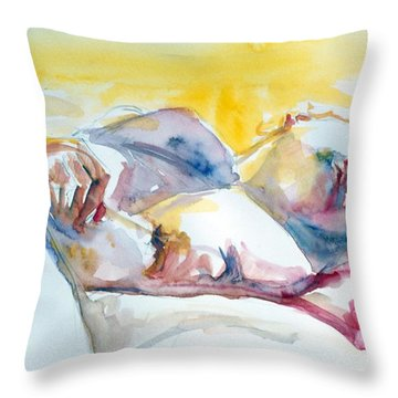 Reclining Study Throw Pillow