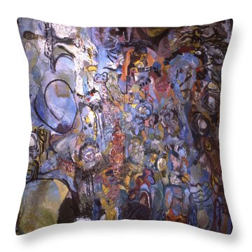 Recognition Of Baselitz, Schnabel, Langlais Throw Pillow