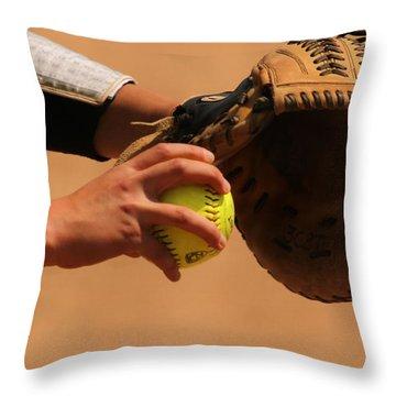 Recoiling Into A Throw Throw Pillow