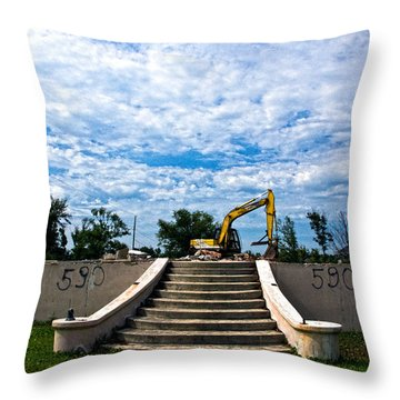 Reconstruction Throw Pillow by Christopher Holmes