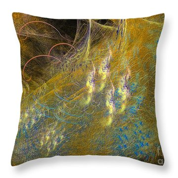 Throw Pillow featuring the digital art Recovering by Sipo Liimatainen