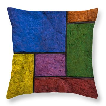 Rectangles Throw Pillow by Don Gradner